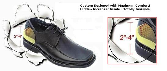 Men s Height Increasing Shoes - Make You 2 - 4 Inches Taller Instantly    Invisibly! 2e621c1fe389